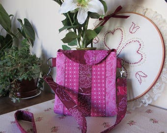 Girls Fun in Pink Patchwork Purse - Sac à main rose patchwork pour femme