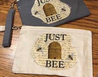 Just Bee and Bee Large Wristlet