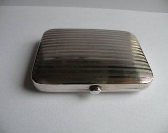 Vintage Solid Silver Small Cigarette Case - Deakin and Francis - Birmingham 1911