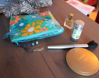 Coated cotton small Pan Grenadine turquoise makeup Kit