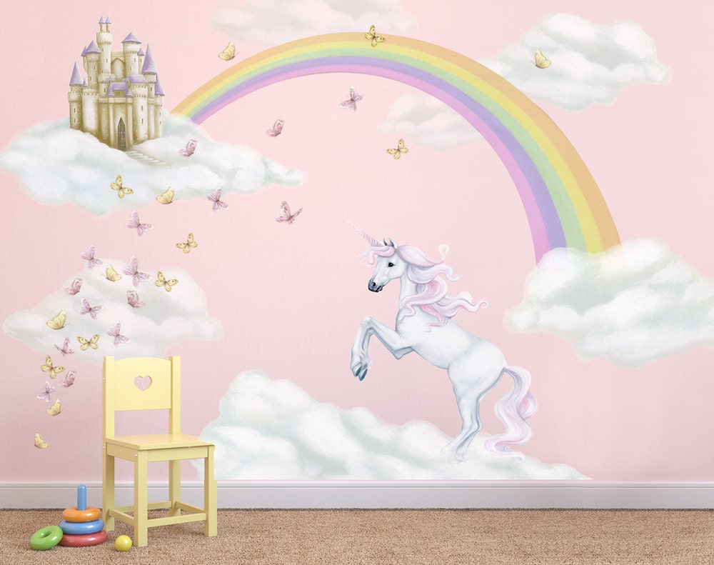 Unicorn Decals Rainbow Decal Unicorn Wall Stickers