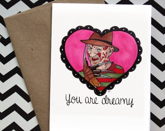 Cute Freddy ''You are Dreamy'' Love Valentine Card