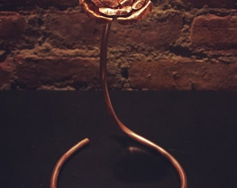 Copper rose with stem