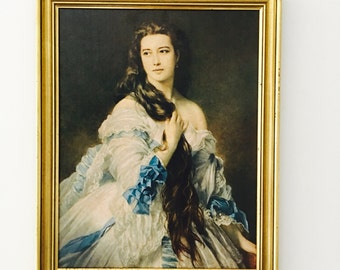 SALE Vintage Female Print Winterhalter