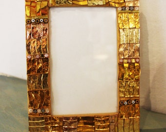 Photo frames decorated with beautiful mosaics, made in Italy, Ravenna mosaic, photo frames, mosaic, gift.