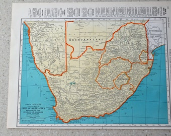 South africa map  Etsy