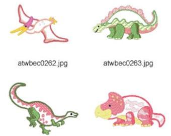 Dinosaur-Applique ( 12 Machine Embroidery Designs from ATW ) XYZ17C