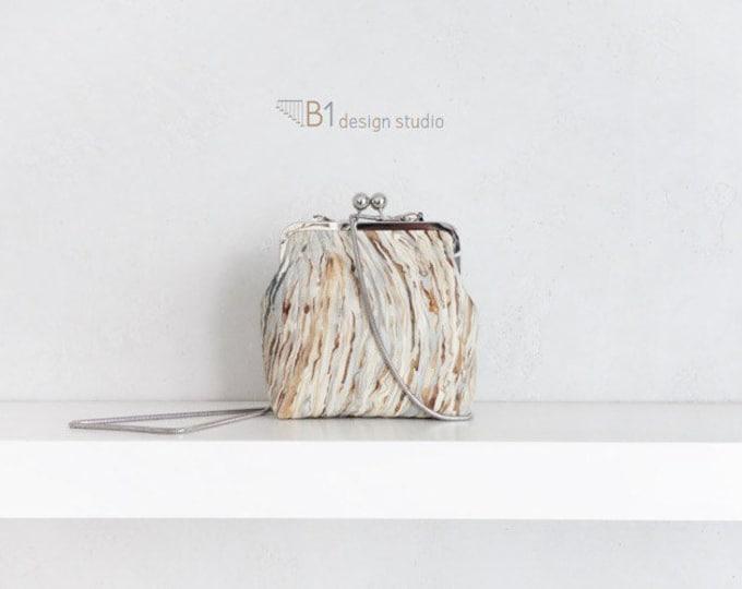 Cotton Shoulder Bag, Colorful Clasp Bag, Metal Strap Crossbody Bag, Woman Handbag, Shoulder Clasp Bag, Gift for Her, Handmade Shoulder Bag