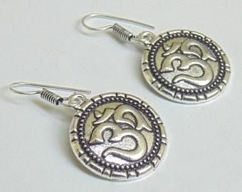 Om Earrings | Yoga Earring | Dangle Earring | Tribal Earring | Hand Crafted Earrings | Travel Jewelry | Om Jewelry | Ethnic Earrings | E60