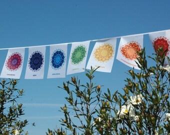 SALE! 7 CHAKRA flags Kundalini Yoga Reiki Wall art  Chakra Art Yoga gift Chakra Balancing Wall hanging Poster Tantra Seven Chakra tapestry