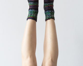 Colorful Hand Knitted Wool Socks