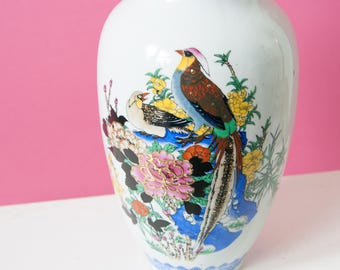 Beautiful vintage vase with bird motif