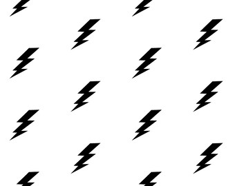 Lightning Bolt Decals~ Lightning Bolt Stickers~ Nursery Wall Stickers~ Wall Stickers ~ Boys Room Decor ~ Wall Decal Stickers