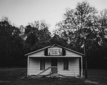 Grasshopper Community Church - Old Church - Black and White Film Photography