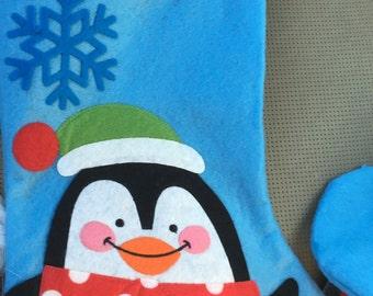 Personalized Christmas Stockings- Penguin
