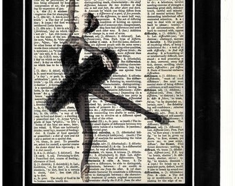 287 Ballerina Dancing To Impress Vintage Paper Picture