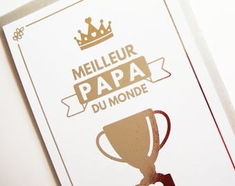 Silver foil - the world's best dad father's Day card