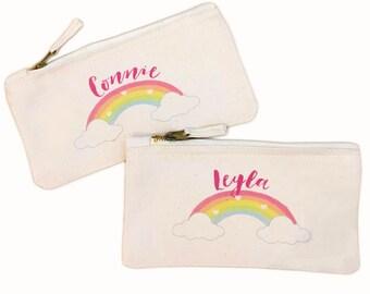 Personalised Rainbow Kids Pencil Case - School Pencil Case, Gift Pencil Case