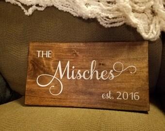 Family Name Sign, Wood Established Date