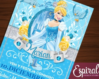 Cinderella invitation printable