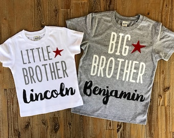 Big Brother Little Brother Shirts, Matching brother shirts, Big bro Lil bro, Personalized Sibling Shirts, Customized Brother Shirts