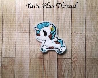 Cow Unicorn Feltie Embroidery Design
