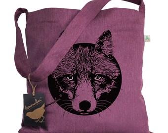 Upcycling shoulder bag Reineke Fuchs wine red mix