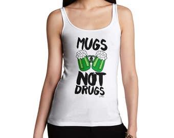 Mugs Not Drugs St Patrick's Day Women's Tank Top