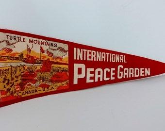 International Peace Garden - Vintage Pennant