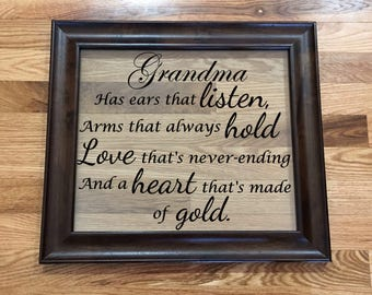 Grandma or Grandpa Quote Picture Frame/Personalized Quote Picture Frame/Home Decor Picture Frame/Picture Frame Quote