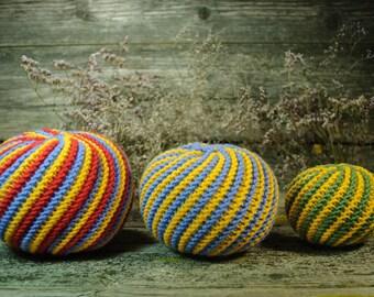 Crochet balls, montessori, montessori knit balls, crochet ball, crochet baby toy,  waldorf toy, ball set,balls  babyshower gift,