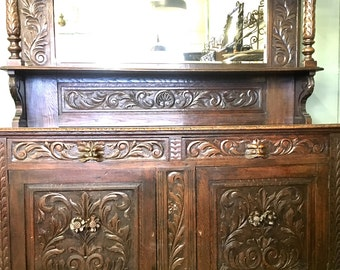 Large Antique Buffet unit.