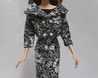 Short Coat and Dress for Silkstone Barbie Doll