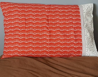 Red, white, and silver Valentine standard pillow case