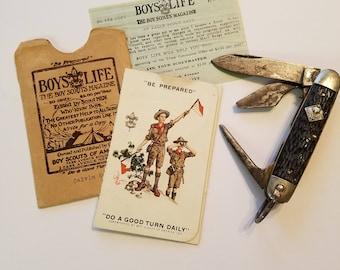 Vintage Boy scout/ Cub scout lot