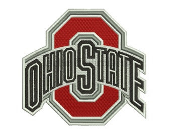 Ohio State Buckeyes 4 Size Embroidery Designs College Football Logos Machine Embroidery Pattern