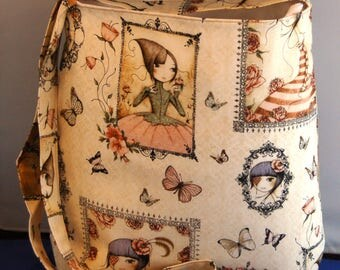 Santoro Fabric Shoulder Bag Women's Handbag Handmade