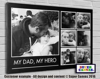 My Dad, My Hero Personalised Canvas