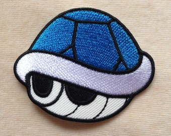 Blue Shell Turtle Iron On Patch