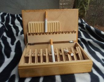 Vintage Tobacco box Old Cigarette case Cigarette holder Cigarette box Cigarette tin Wood cigarettes box Cigarettes organizer Gift for smoker