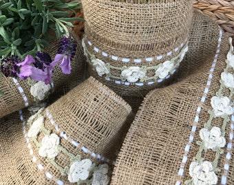 Natural Jute Crochet Accent Ribbon