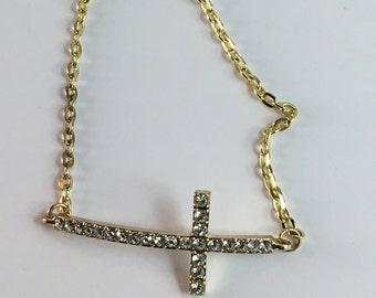 Studded Cross Bracelet