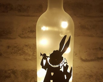 March Hare Bottle Lamp