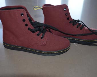 Code FOREVER15: 15% + reduced SHIPPING!  Dr. Martens boots!  Rare! Canvas 5UK 38EU 7US