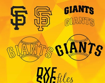 San Francisco Giants logos in SVG / Eps / Dxf / Jpg files INSTANT DOWNLOAD!