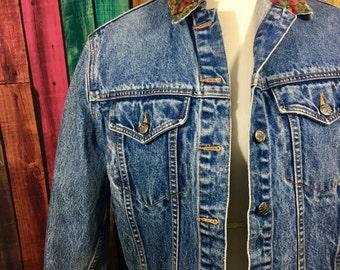 90s Floral Denim Jacket