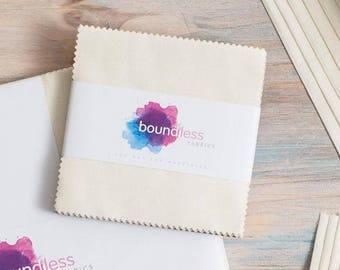 "Boundless Fabrics - 42 Piece Charm Pack - 5"" Squares - Porcelain"