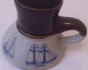 Vintage 1979 Bearly Surviving Nautical Sailboats Coffee Mug Cup, USA, 12 Meter Sloop, Yawl, Cruising Yacht, Ketch, Schooner, Porcelain