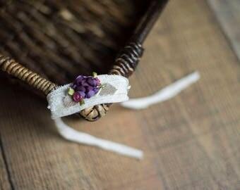 Flower Tieback Headband
