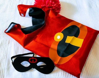 The Mr Incredible - Set of Cape,  Mask